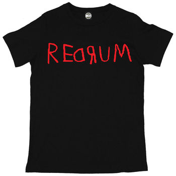 REDRUM MURDER THE SHINING HALLOWEEN MENS PRINTED FANCY DRESS T-SHIRT New T Shirts Funny